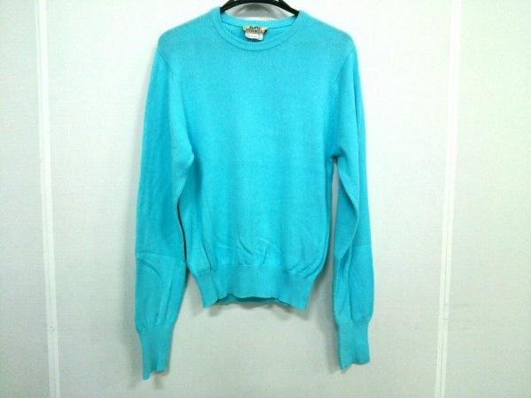HERMES(エルメス) 長袖セーター サイズmedium M メンズ ライトブルー