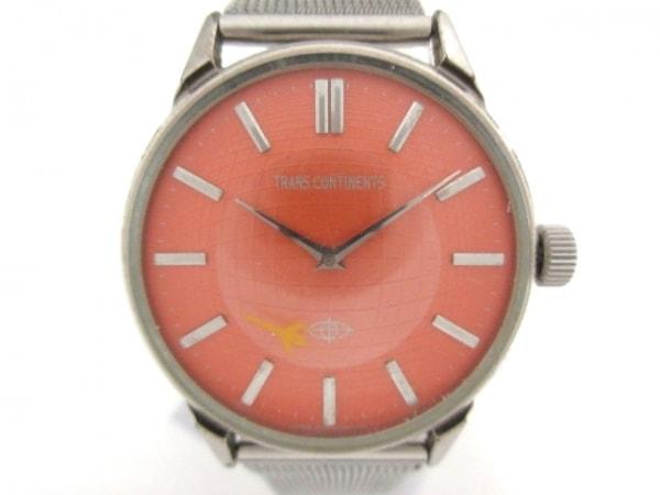 TRANS CONTINENTS(トランスコンチネンス) 腕時計 5537-L15219 レディース オレンジ