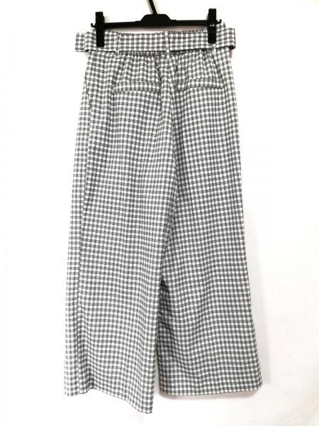 OPAQUE(オペーク) パンツ サイズ40 M レディース 白×黒 タグ付き/チェック柄