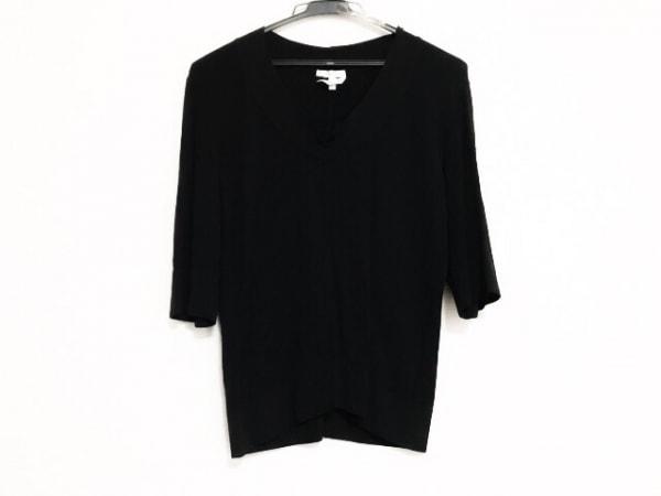 Max Mara(マックスマーラ) 七分袖カットソー サイズXL レディース美品  黒
