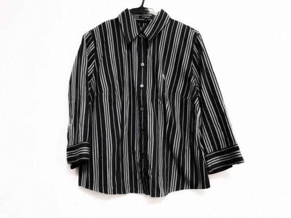 バーバリーロンドン 長袖シャツブラウス サイズ13 L レディース 黒×グレー×イエロー