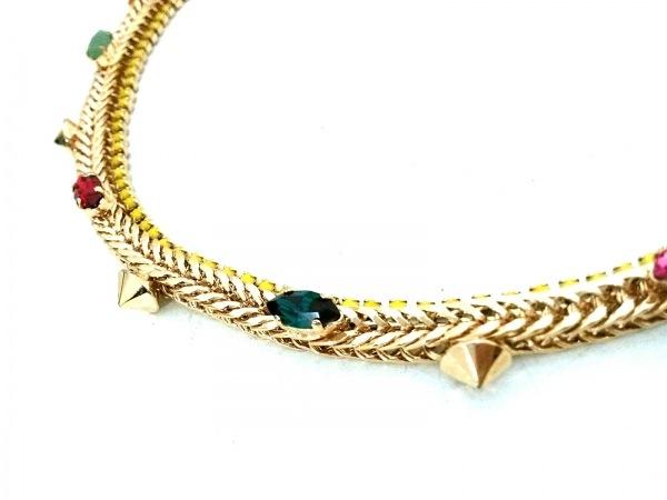 イオッセリアーニ ネックレス美品  金属素材×ラインストーン ゴールド×マルチ