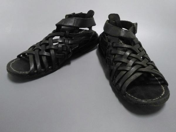 CHRISTIAN PEAU(クリスチャンポー) サンダル レディース 黒 レザー