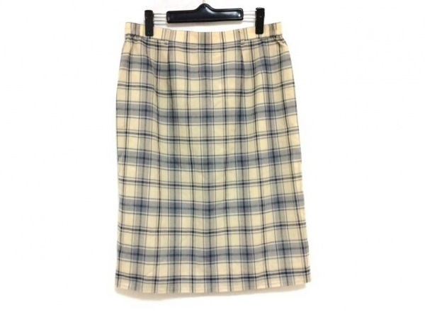 DAKS(ダックス) スカート サイズ80-103 レディース美品  ベージュ×グレー×ネイビー