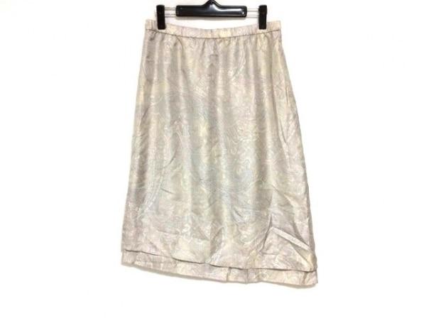 レリアン ロングスカート サイズ13+ S レディース美品  パープル×ベージュ×マルチ