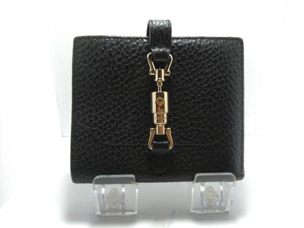 GUCCI(グッチ) 2つ折り財布 ニュージャッキー 141435 黒 型押し加工 レザー