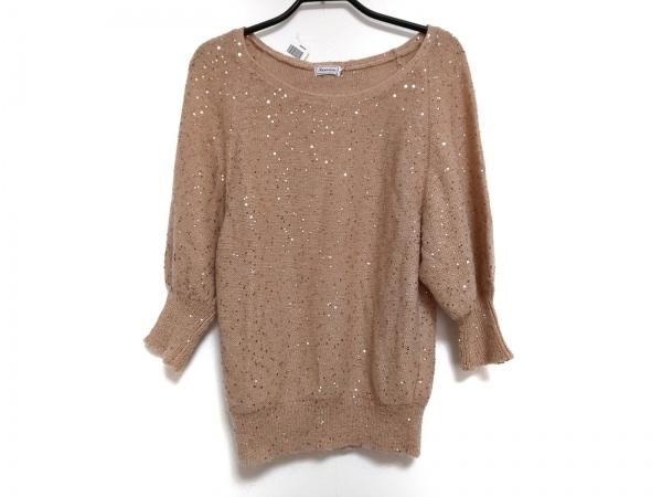 anatelier(アナトリエ) 七分袖セーター サイズ38 M レディース美品  ベージュ