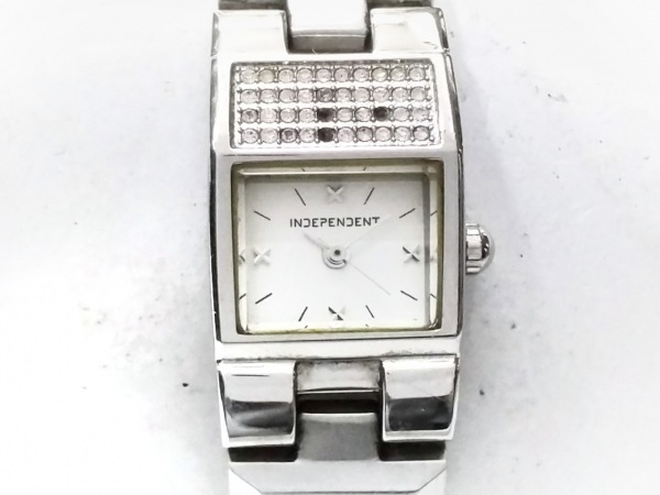 インディペンデント 腕時計 5432-003066-03 レディース ラインストーン/SS 白