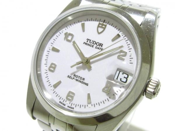 TUDOR(チューダー) 腕時計 プリンスデイト 74000N メンズ SS 白