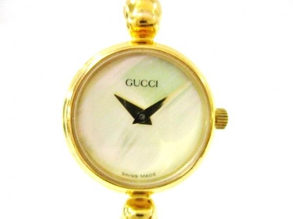 GUCCI(グッチ) 腕時計 2700.2.L レディース シェル文字盤 アイボリー