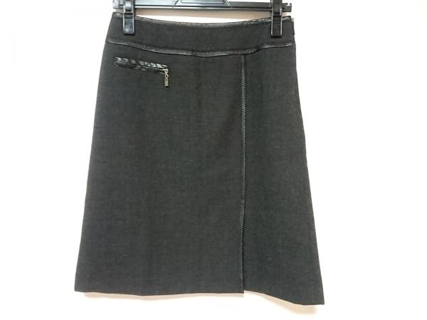 23区(ニジュウサンク) スカート サイズ36 S レディース ダークグレー×黒