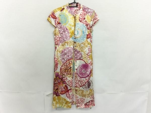 Laurel(ローレル) ドレス サイズ34 S レディース美品  アイボリー×レッド×マルチ