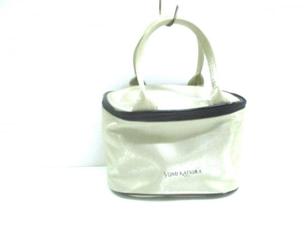 yumi katsura(ユミカツラ) バニティバッグ ベージュ×黒×ゴールド 合皮