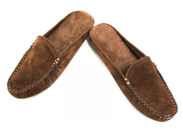 homers(ホーマーズ) 靴 37 レディース美品  ブラウン スエード
