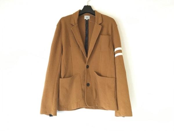 ティーケータケオキクチ ジャケット サイズ2 M メンズ ブラウン×白