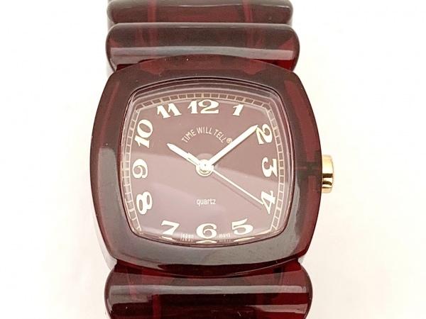 TIME WILL TELL(タイムウィルテル) 腕時計美品  レディース ブレスウォッチ ボルドー