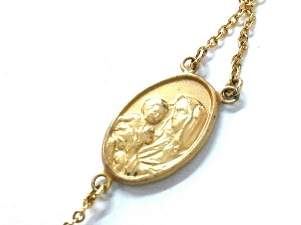 Enasoluna(エナソルーナ) ネックレス美品  シルバー×ジルコニア ゴールド クロス