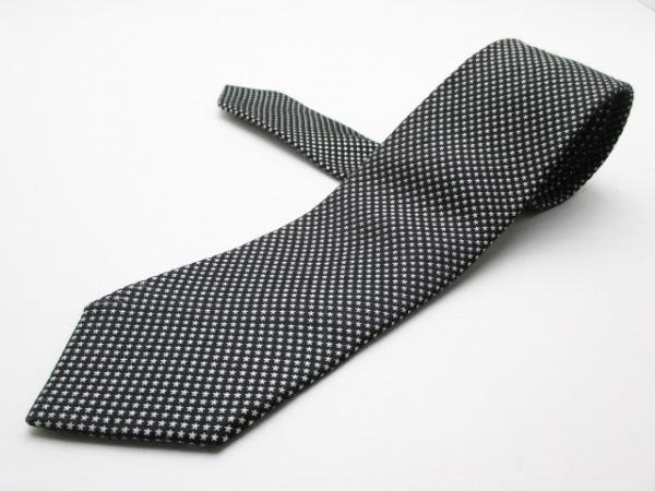 PaulSmith(ポールスミス) ネクタイ メンズ 黒×ライトグレー スター