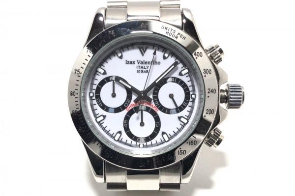 izax valentino(アイザックバレンチノ) 腕時計 IVG-5000-6 メンズ クロノグラフ 白