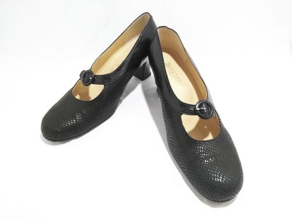 菊地武男の靴(キクチタケオノクツ) パンプス 24 1/2 レディース 黒 レザー