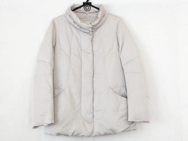 ヒロココシノ ダウンジャケット サイズ38 M レディース美品  ライトグレー 冬物