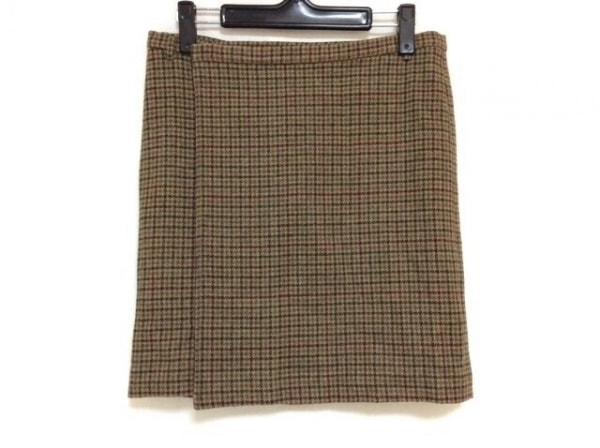 ラルフローレン 巻きスカート サイズ2 S レディース美品  ブラウン×マルチ