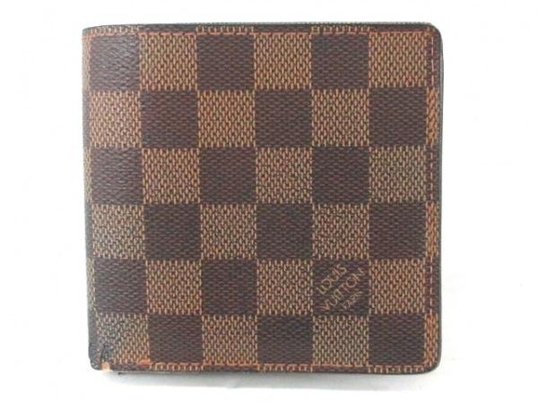 ルイヴィトン 2つ折り財布 ダミエ ポルトビエカルトクレディモネ N61665 エベヌ