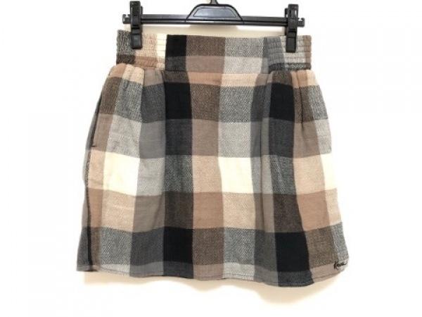 カブー スカート サイズS レディース アイボリー×ライトブラウン×ダークグレー