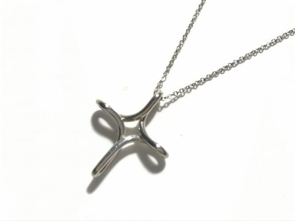 TIFFANY&Co.(ティファニー) ネックレス美品  オープンクロス シルバー