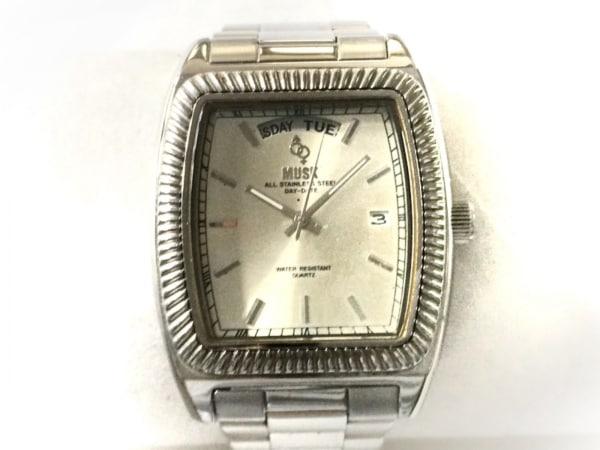 MUSK(ムスク) 腕時計 - メンズ シルバー