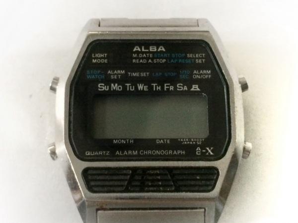 ALBA(アルバ) 腕時計 Y446-5000 メンズ 黒