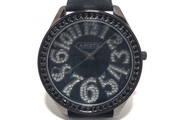 ABISTE(アビステ) 腕時計 - メンズ ラインストーン 黒