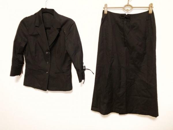 INGEBORG(インゲボルグ) スカートスーツ サイズL L レディース美品  黒 サイド紐