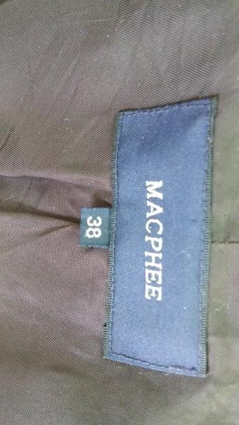 MACPHEE(マカフィ) コート サイズ38 M レディース ダークグレー 冬物