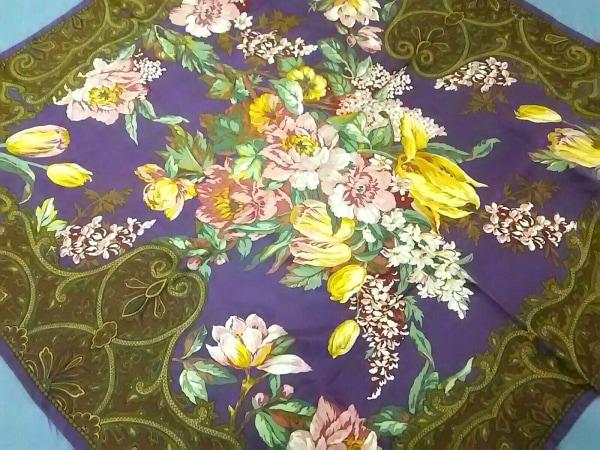 RalphLauren(ラルフローレン) スカーフ新品同様  パープル 花柄