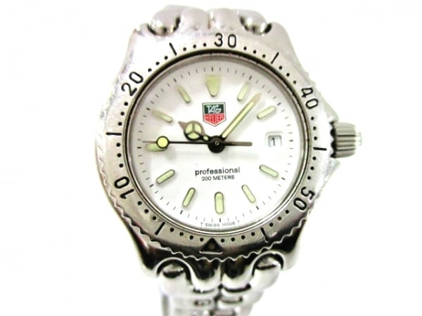 TAG Heuer(タグホイヤー) 腕時計美品  プロフェッショナル200 S90.815 レディース 白