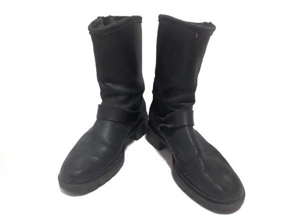 mulinsen(ムーリンセン) ショートブーツ 36 レディース美品  黒 レザー
