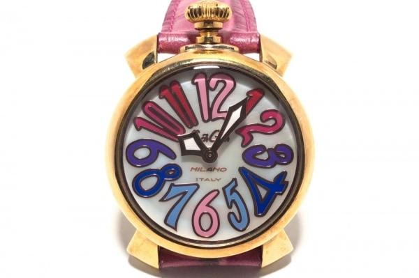 GAGA MILANO(ガガミラノ) 腕時計 マヌアーレ40 - レディース シェル文字盤 シェル