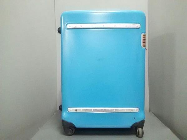 ポールスミス キャリーバッグ ブルー×マルチ ダイヤルロック 化学繊維×レザー