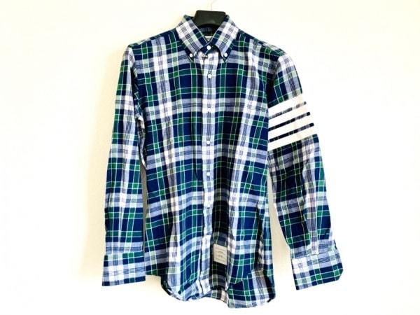 トムブラウン 長袖シャツ サイズ1 S メンズ美品  ネイビー×ダークグリーン×白