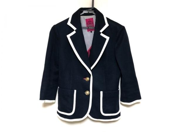 DOLLY GIRL(ドーリーガール) ジャケット サイズ2 S レディース ネイビー×白