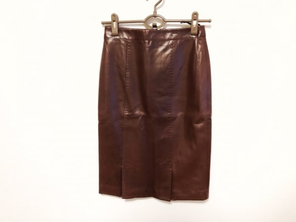 RUFFO(ルッフォ) スカート サイズ38 M レディース美品  ブラウン レザー