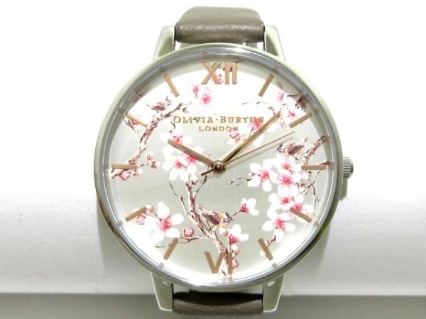 オリビアバートン 腕時計美品  OB16PL31 レディース フラワー シルバー×ピンク