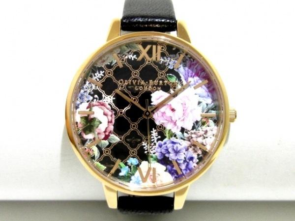 Olivia Burton(オリビアバートン) 腕時計美品  OB052 レディース 黒×マルチ