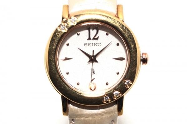 セイコー 腕時計 ルキア 1N01-0HP0 レディース 革ベルト/型押し加工/ラインストーン