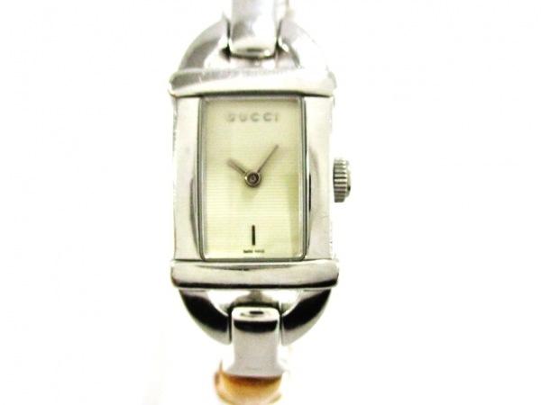 4e159ac31dd6 GUCCI(グッチ) 腕時計美品 バンブー 6800L レディース アイボリー ...