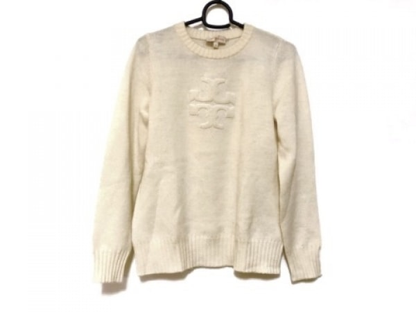 TORY BURCH(トリーバーチ) 長袖セーター サイズS レディース アイボリー