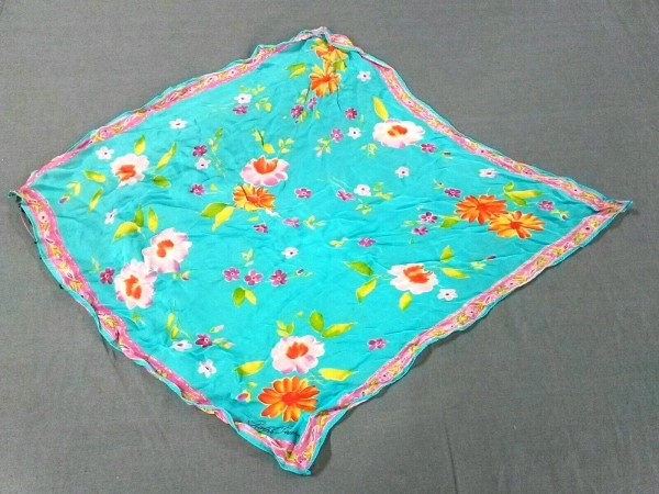 ラルフローレンコレクション パープルレーベル スカーフ美品  花柄