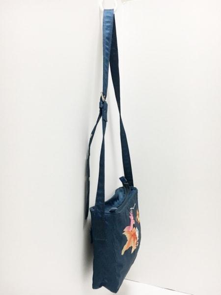 ヴィヴィアンタム ショルダーバッグ ネイビー×マルチ 刺繍/鯉 ナイロン