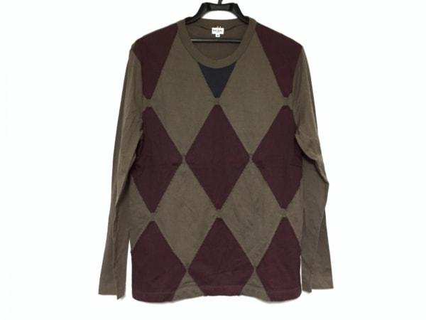PaulSmith(ポールスミス) 長袖Tシャツ サイズM メンズ ブラウン×マルチ